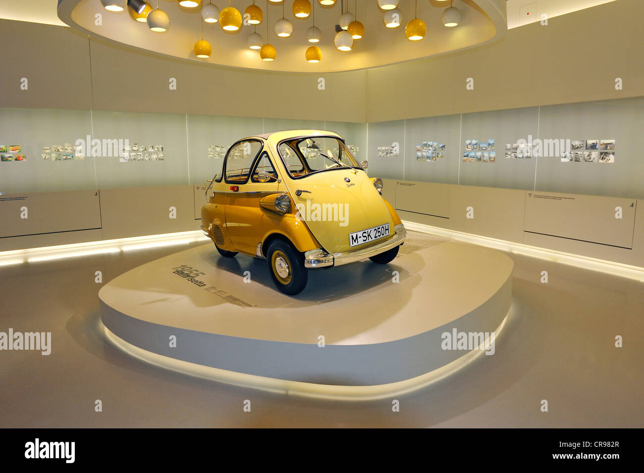 BMW Isetta bubble car from 1955, BMW Museum, Munich, Bavaria, Germany, Europe - Stock Image