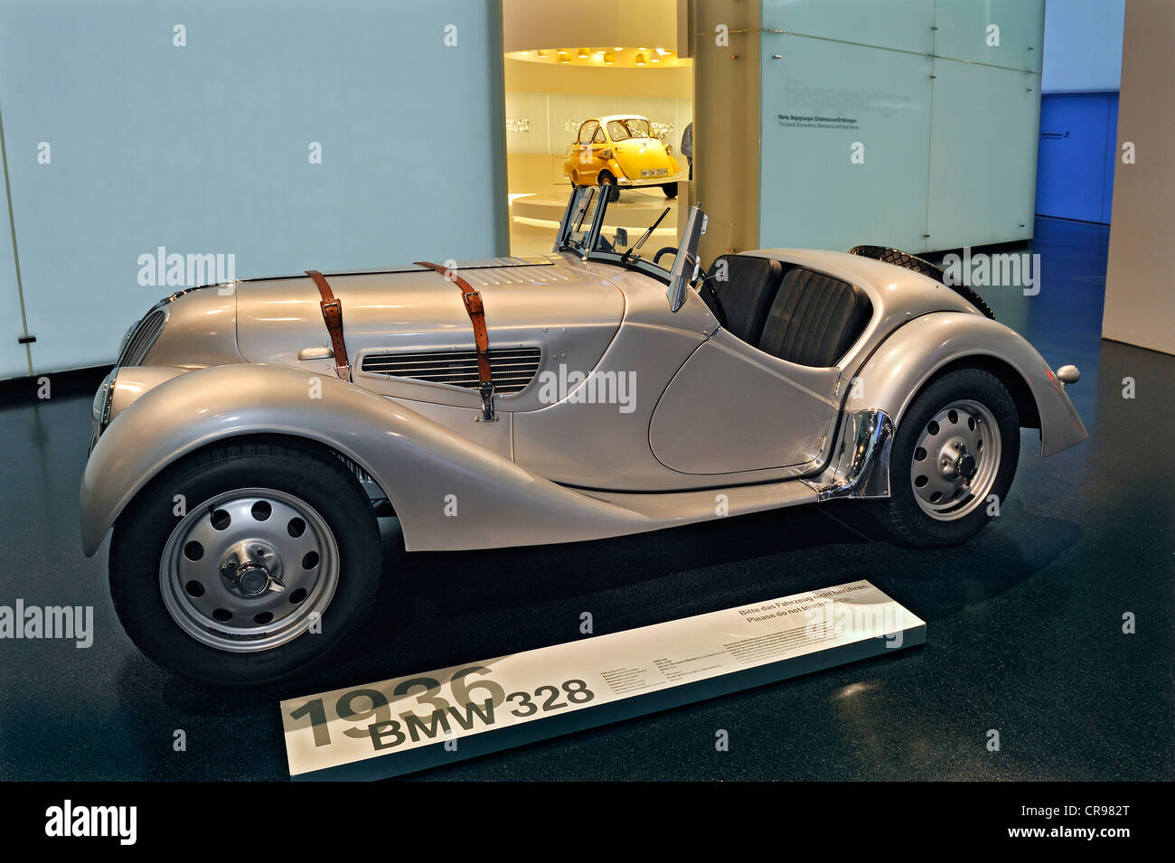 BMW-328, from 1936, BMW Museum, Munich, Bavaria, Germany, Europe - Stock Image