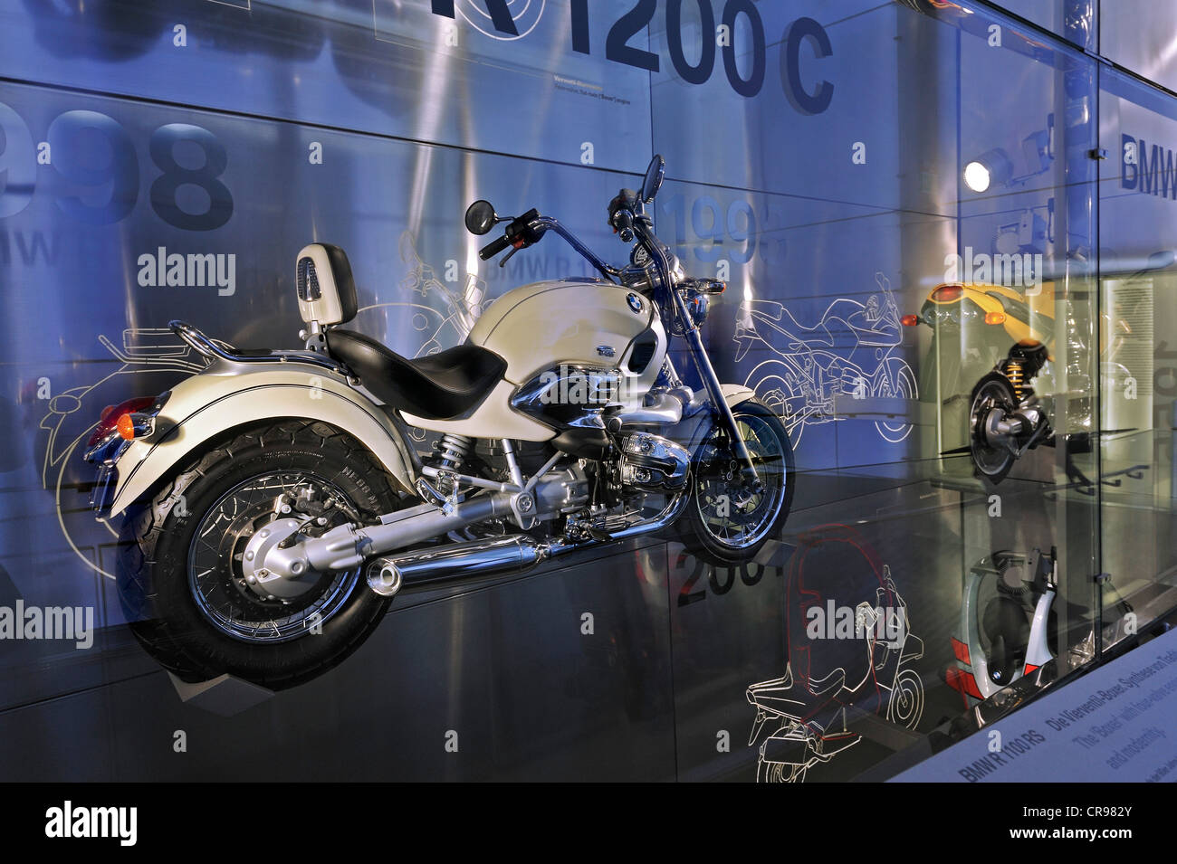 BMW R 1200 C from 1997, BMW Museum, Munich, Bavaria, Germany, Europe - Stock Image