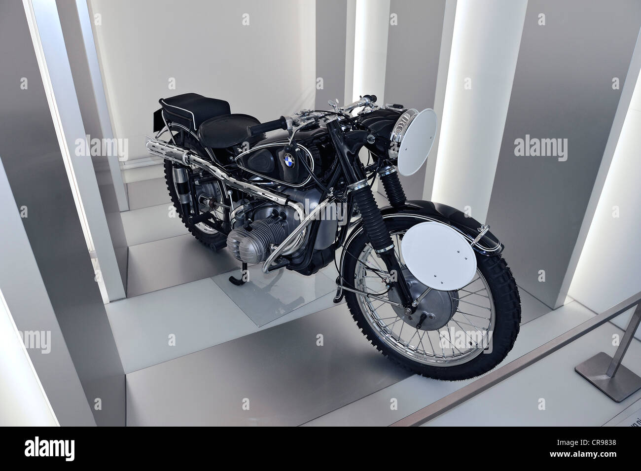 BMW-R67/2 from 1953, BMW Museum, Munich, Bavaria, Germany, Europe - Stock Image