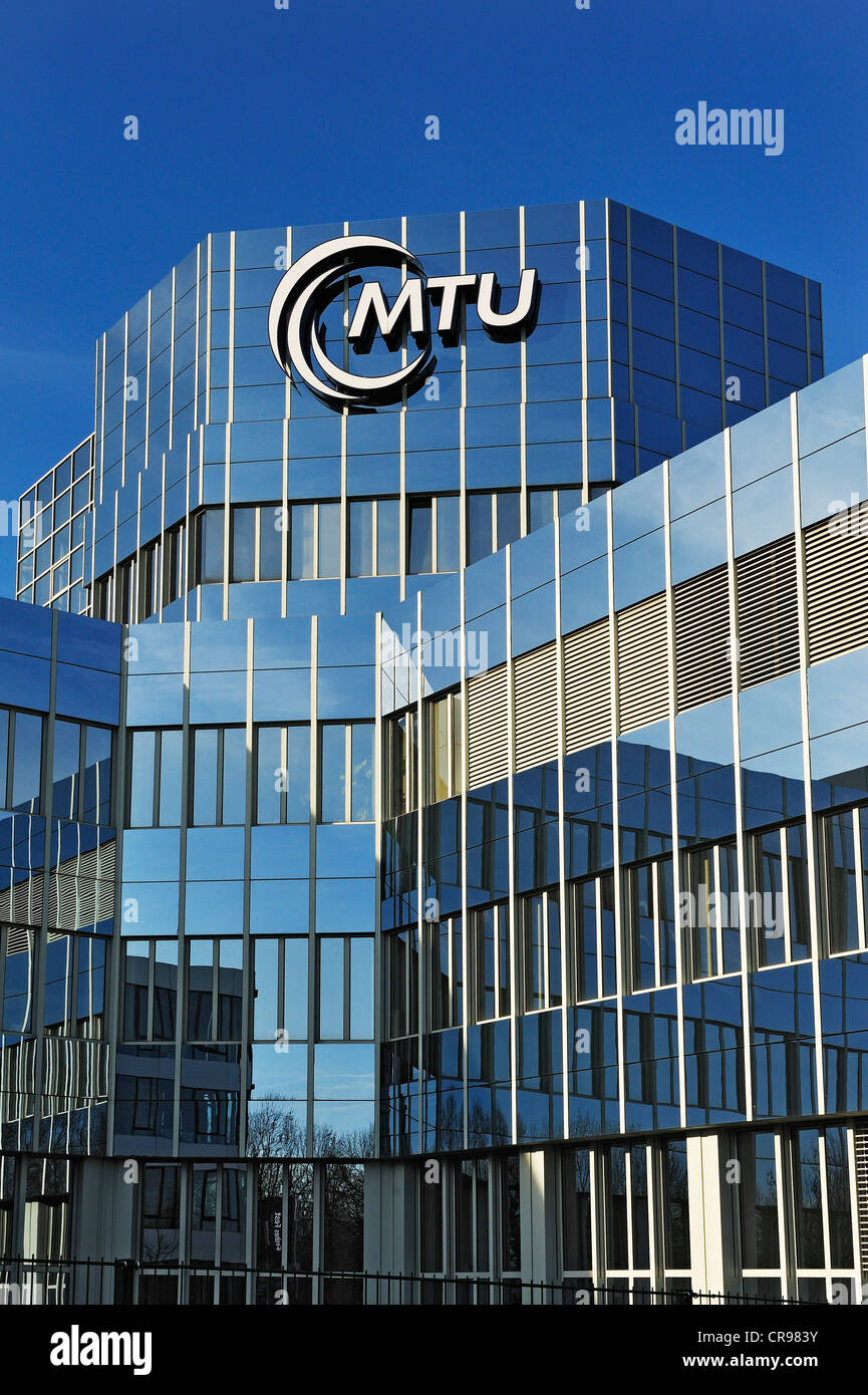 Building, MTU Aero Engines, Munich, Bavaria, Germany, Europe - Stock Image