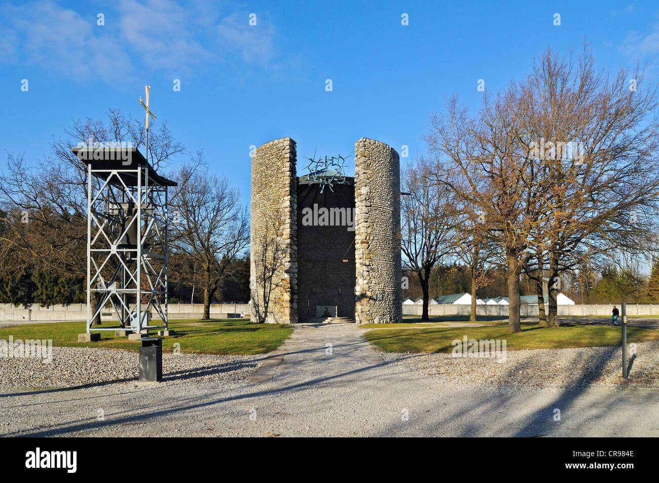 Todesangst-Christi-Kapelle, Mortal Agony of Christ Chapel, Dachau Concentration Camp, Dachau, near Munich, Bavaria - Stock Image