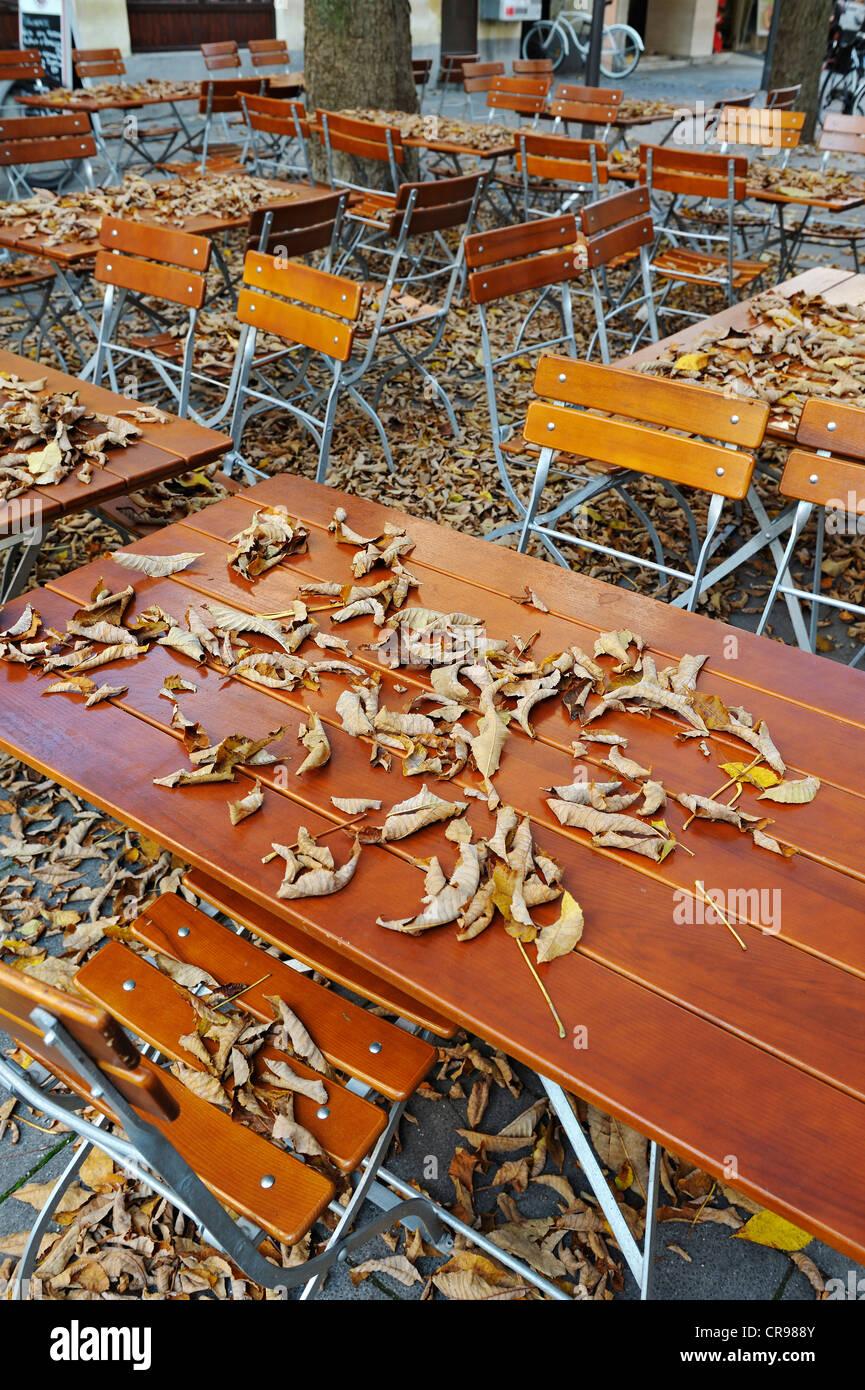 Beer Garden Autumn Germany Stock Photos & Beer Garden Autumn Germany ...