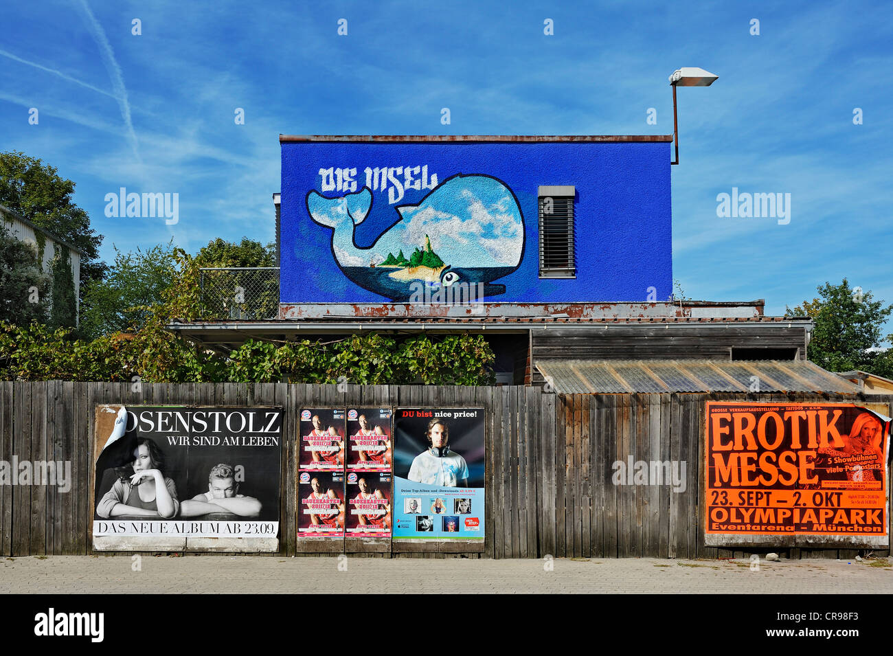 Die Insel, a club in the Kultfabrik complex, Berg am Laim, Munich, Bavaria, Germany, Europe - Stock Image