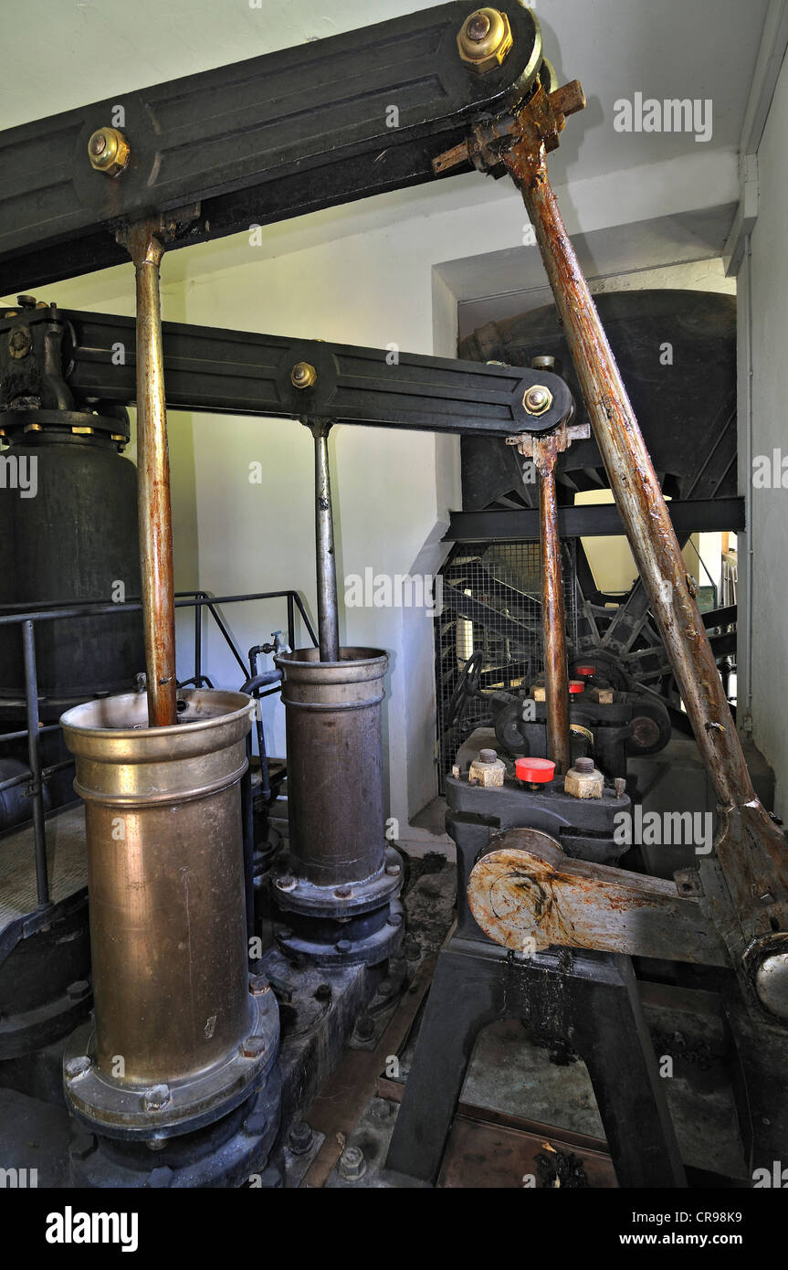 Baroque pumping station in the Gruenes Brunnenhaus well house, Nymphenburg Park, Munich, Bavaria, Germany, Europe Stock Photo