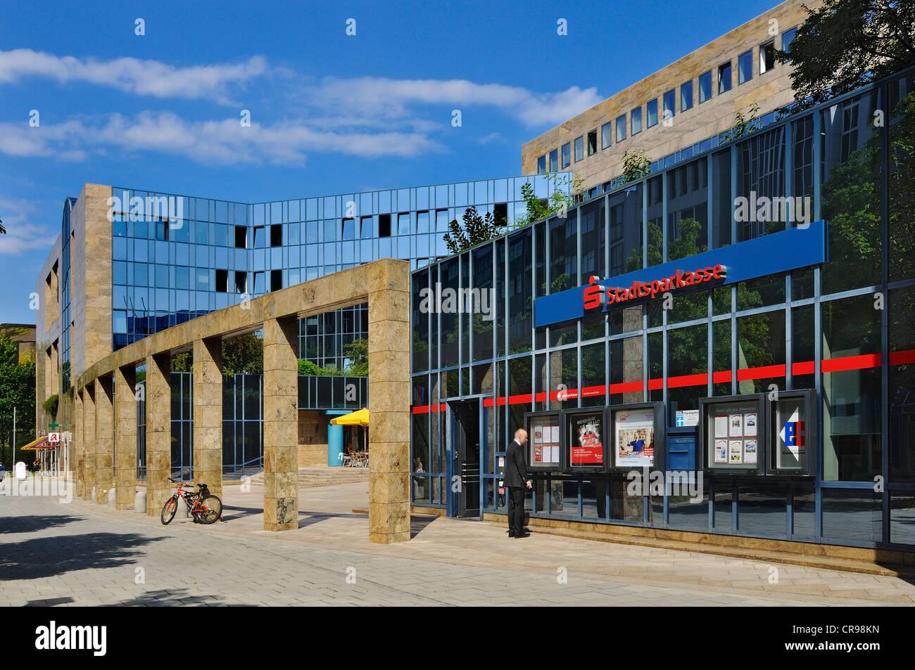 Stadtsparkasse Muenchen bank, administration centre, Ungererstrasse street 75, Munich, Bavaria, Germany, Europe, - Stock Image