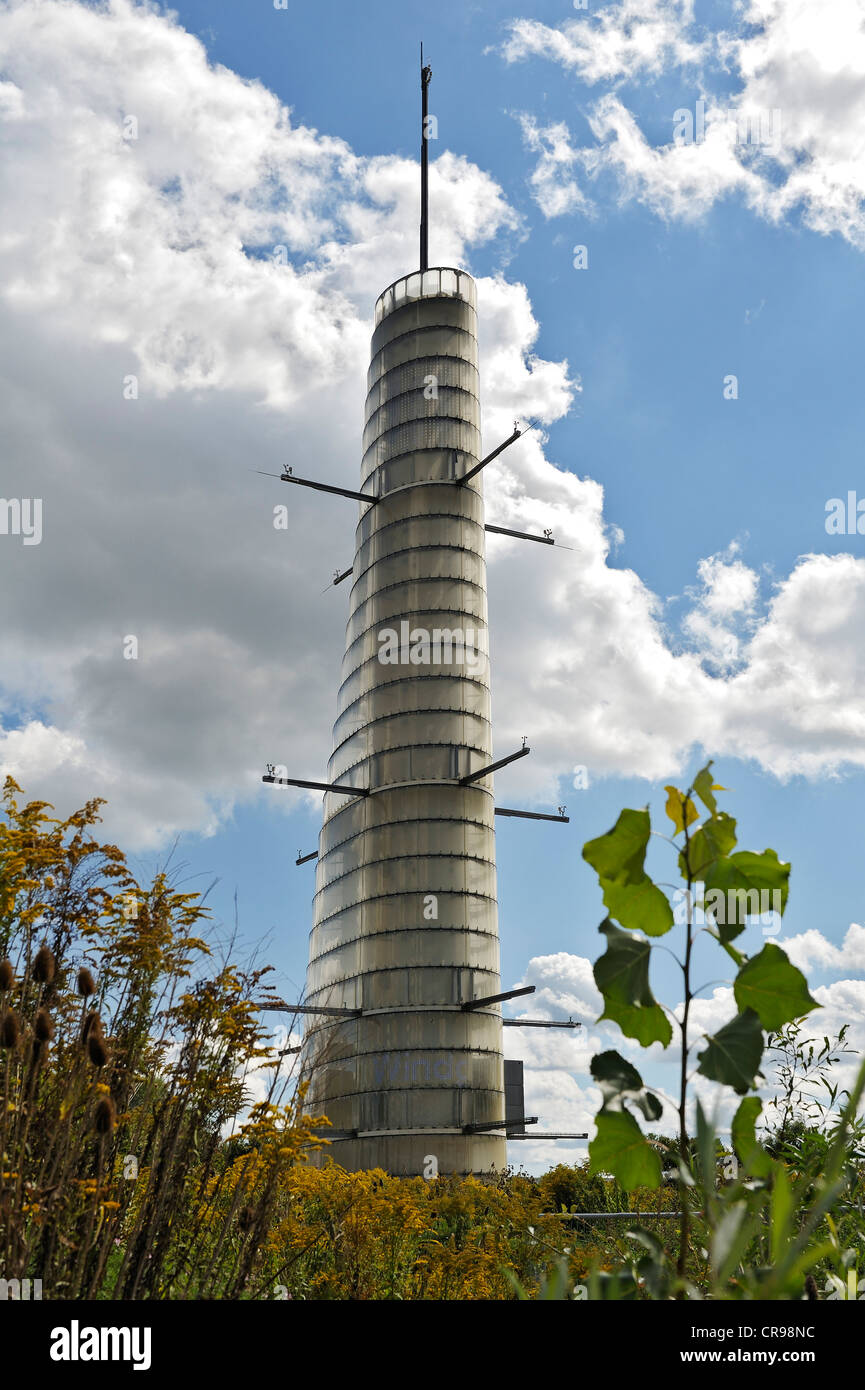 Meteoturm, a new meteorological tower at the entrance of the new research campus in Garching near Munich, Bavaria, - Stock Image