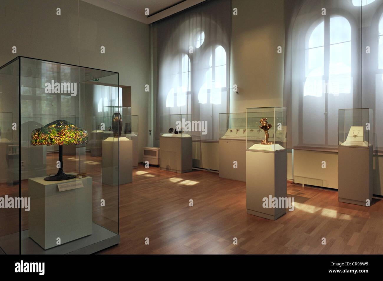 Art Nouveau collection, Bavarian National Museum, Munich, Bavaria, Germany, Europe - Stock Image