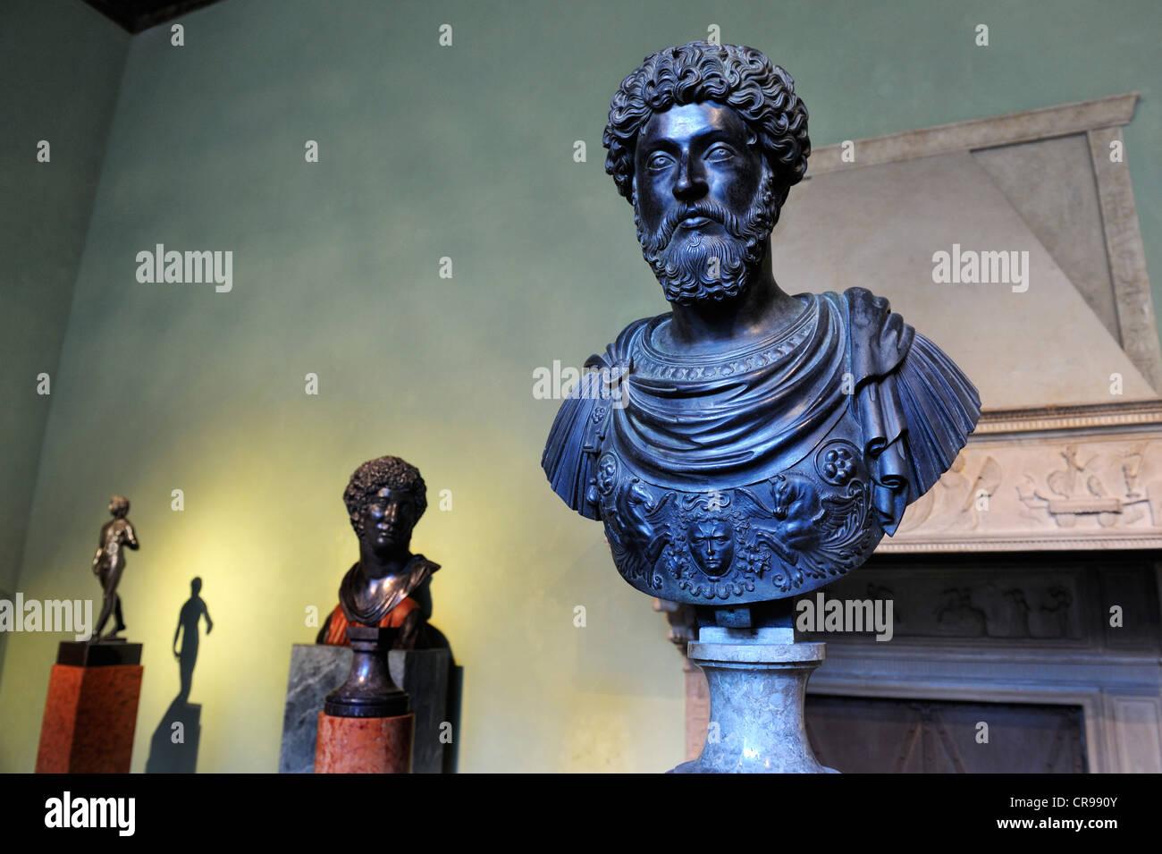 Italian Renaissance busts, Bavarian National Museum, Prinzregentenstrasse 3, Munich, Bavaria, Germany, Europe - Stock Image