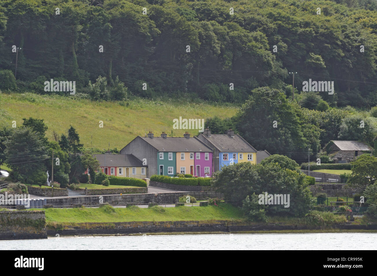 Colourful house, West Cork, Ireland - Stock Image