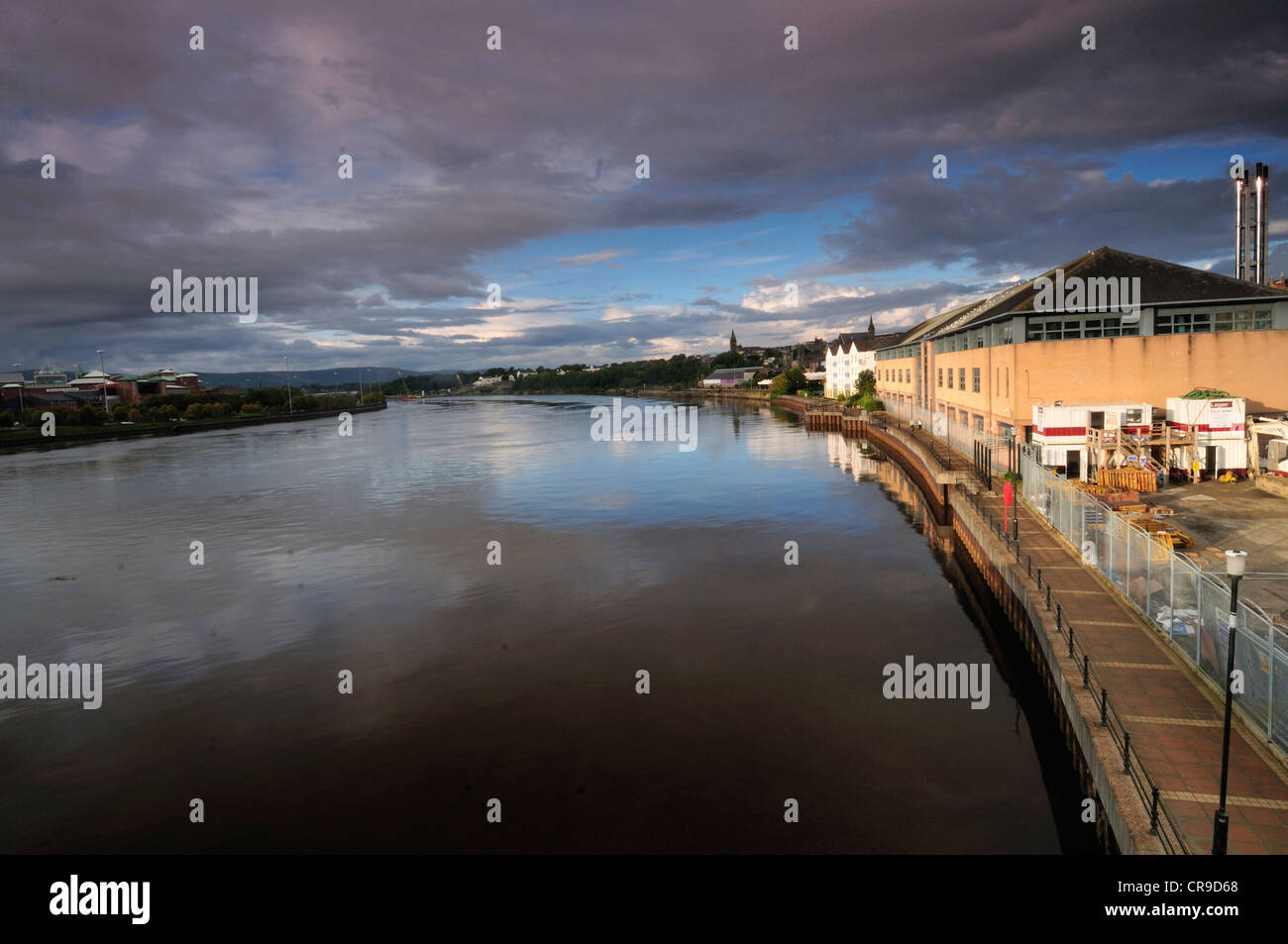 Foyle River, Derry, Derry County, North Ireland, Europe - Stock Image