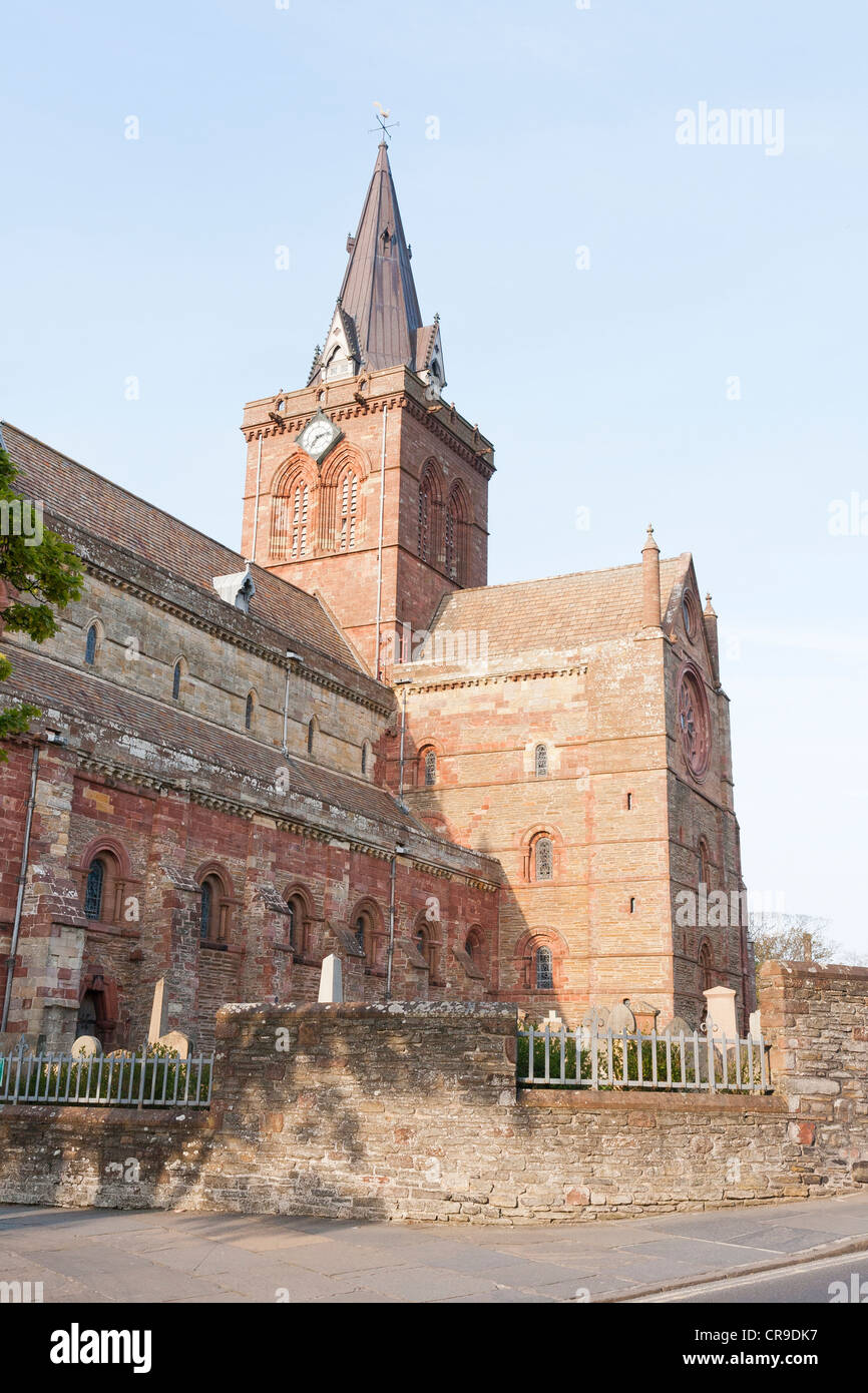 St Magnus Cathedral, Kirkwall, Orkney Isles, Scotland - Stock Image