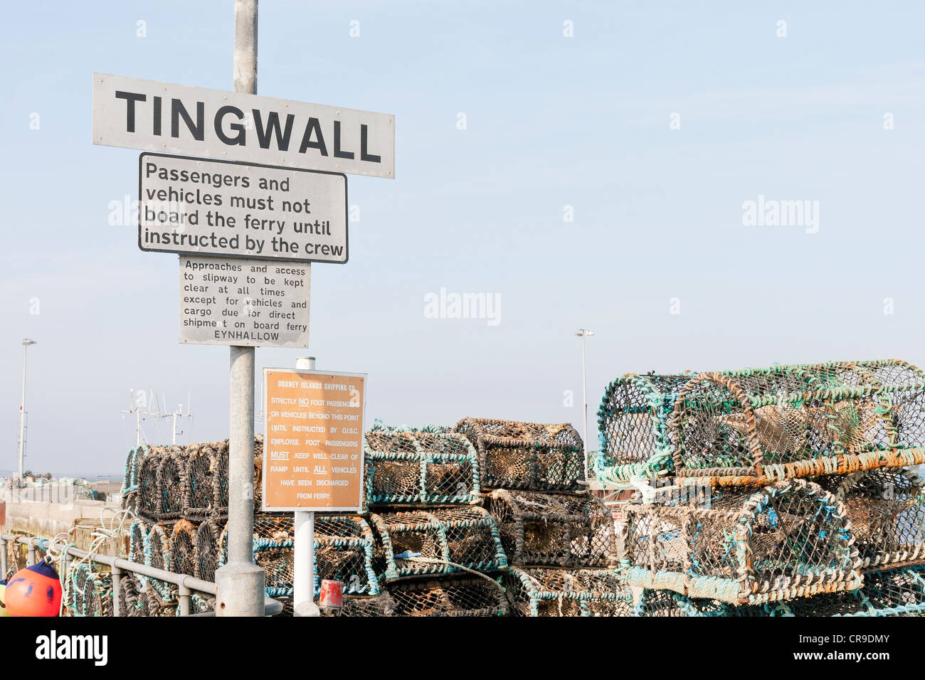 Tingwall Harbour - Orkney Isles, Scotland - Stock Image
