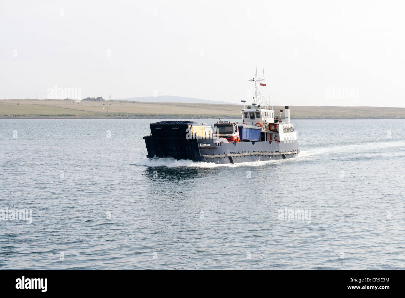 The Island of Rousay - Orkney Islands, Scotland. The ferry arriving - Stock Image