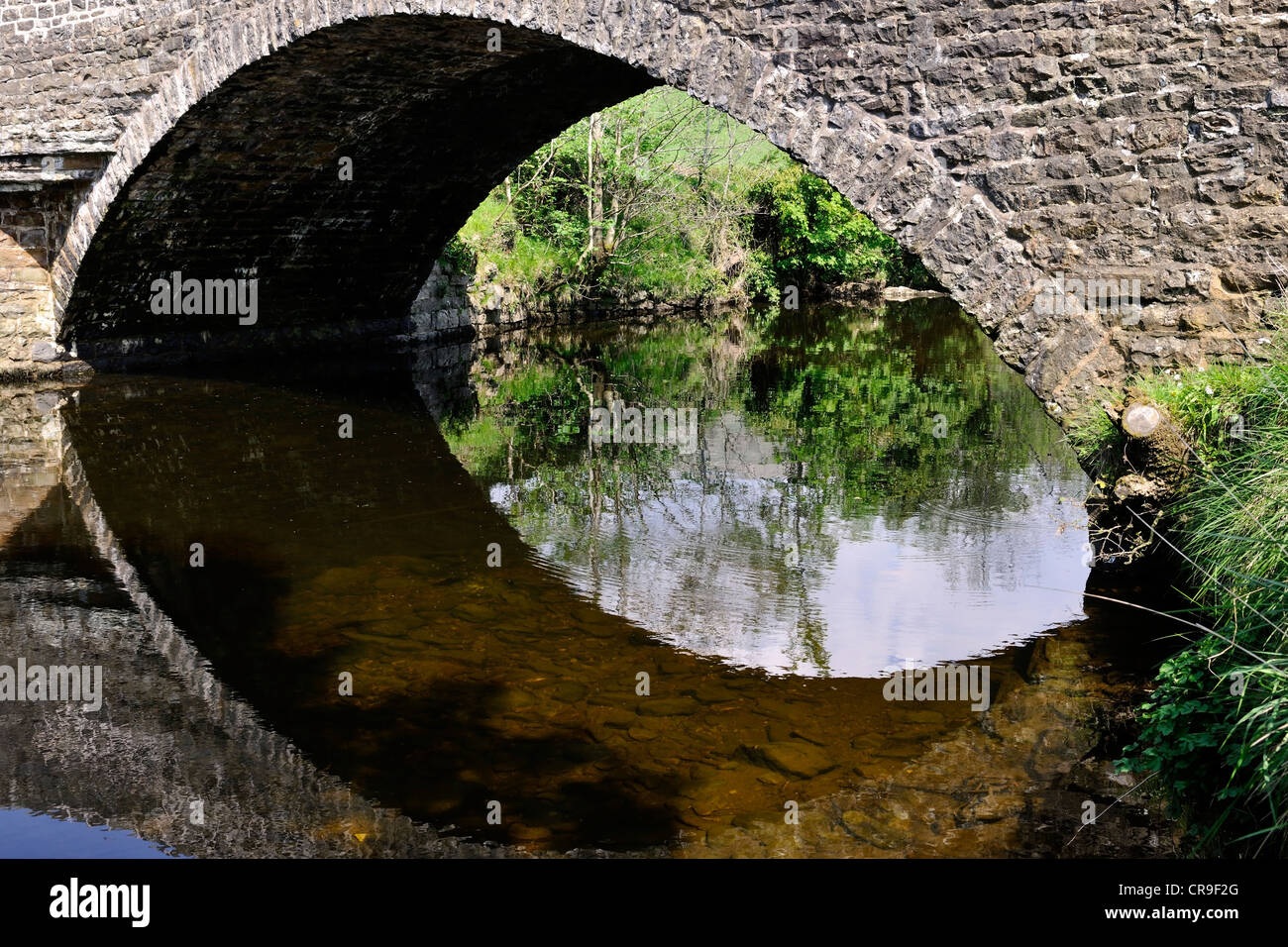The eighteenth century Barth Bridge, spanning the River Dee, in Dentdale, Cumbria, England - Stock Image