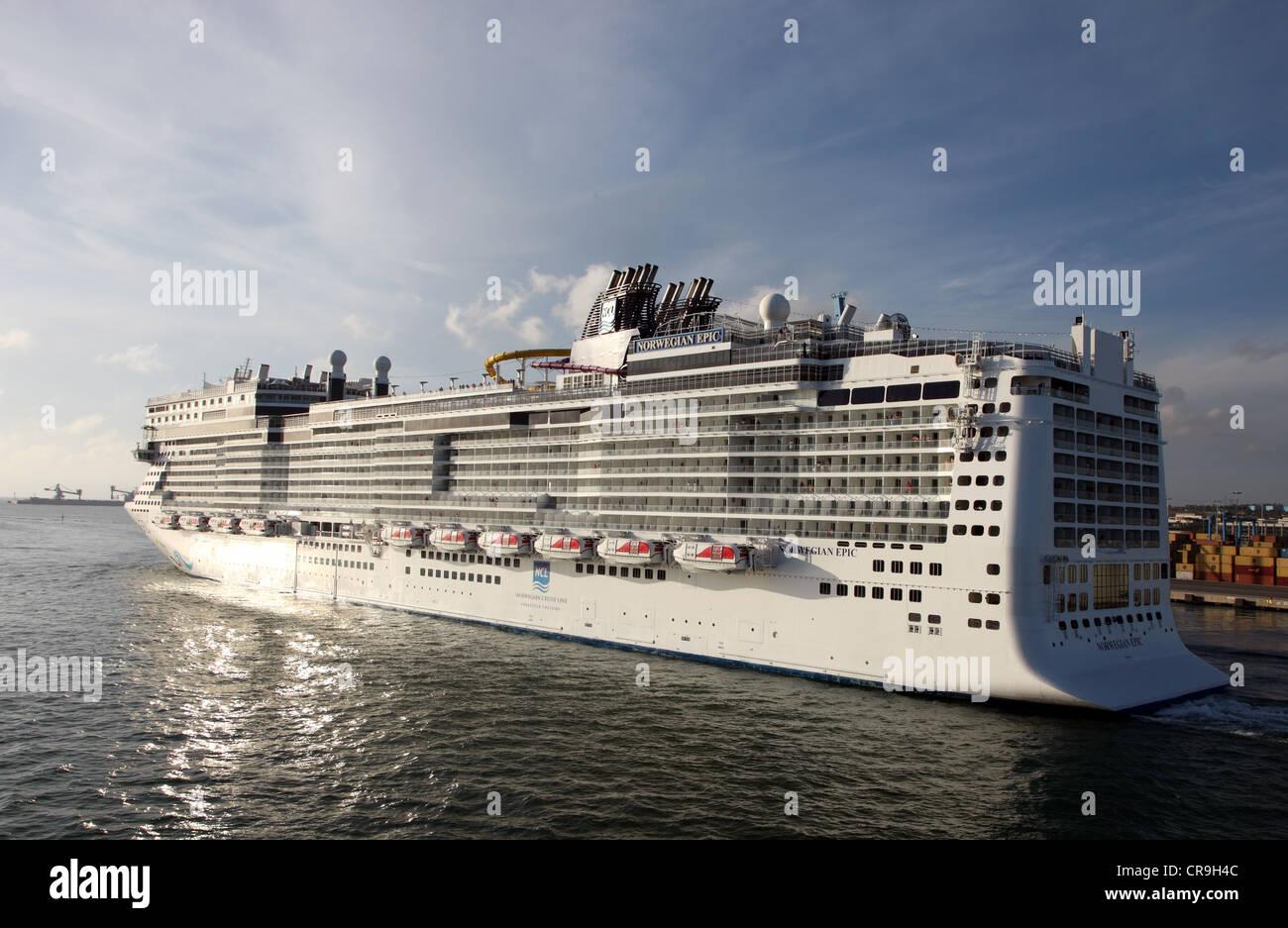 Norweigan Epic, cruise ship, Barcelona - Stock Image