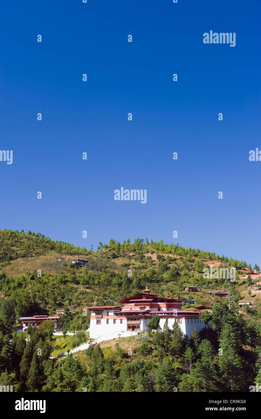 Dzong, Thimphu (capital city), Bhutan, Asia - Stock Image