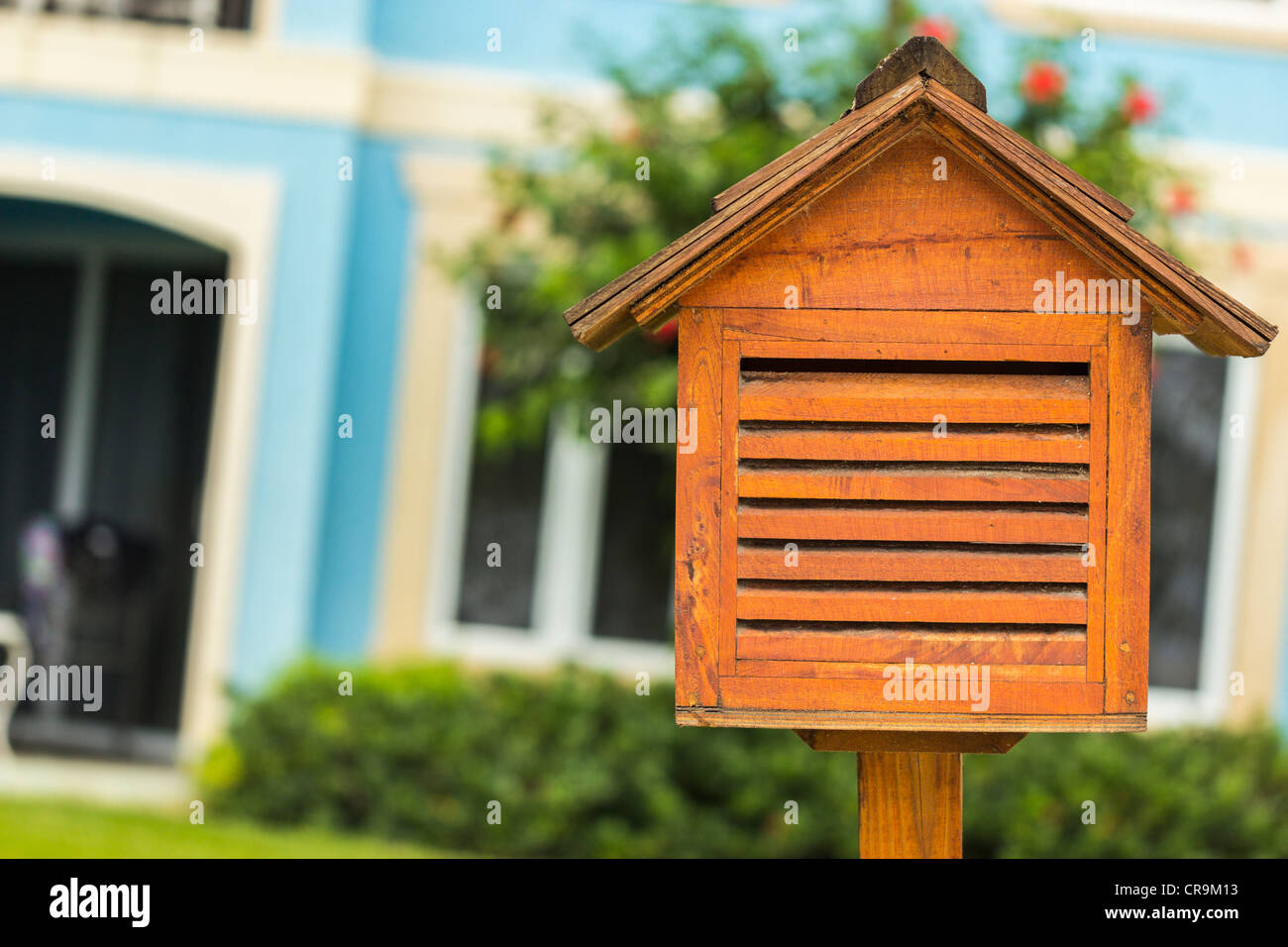 This is a mailbox where you drop your letters into for mailing. Stock Photo