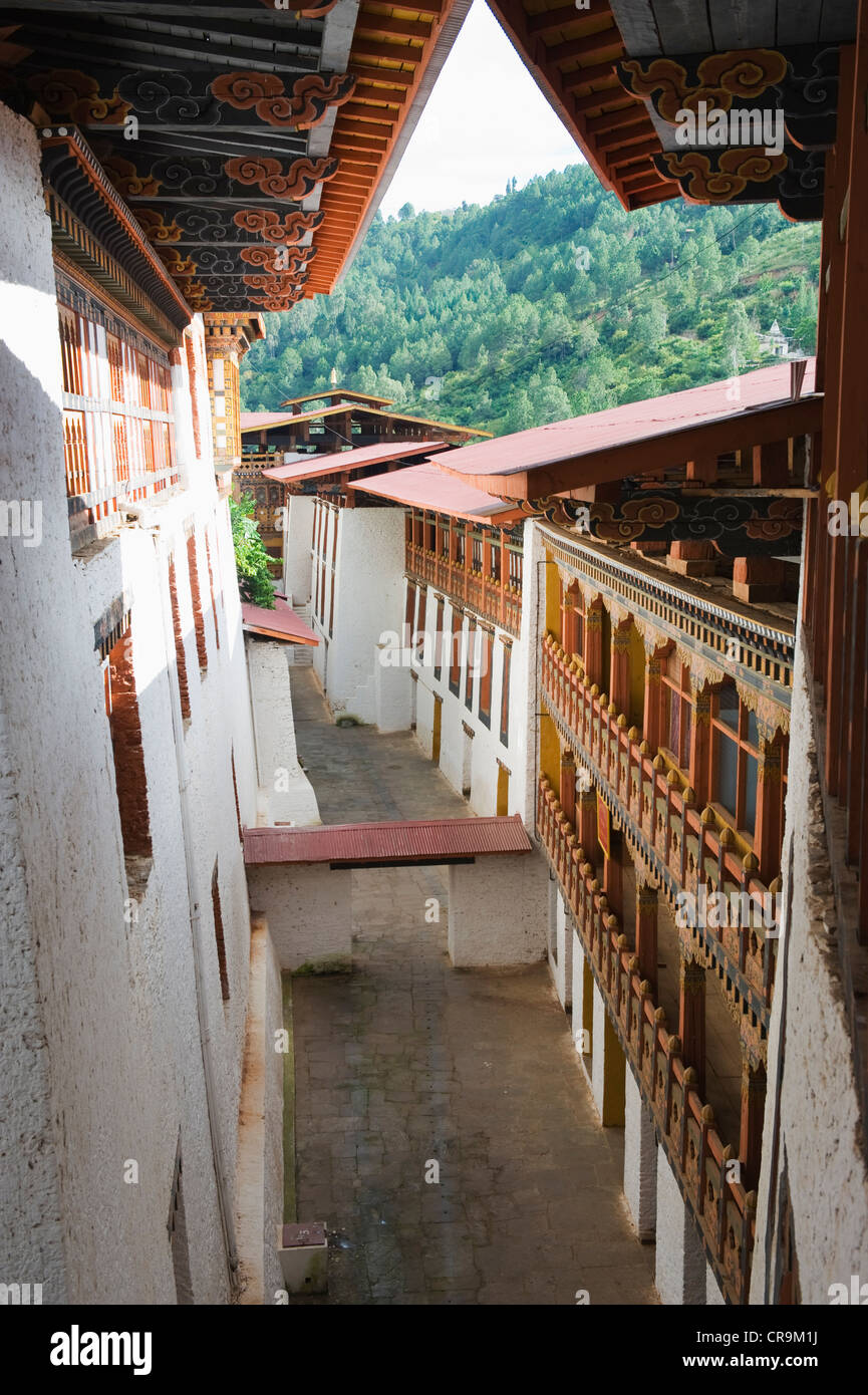 Punakha Dzong (1637), Punakha, Bhutan, Asia - Stock Image