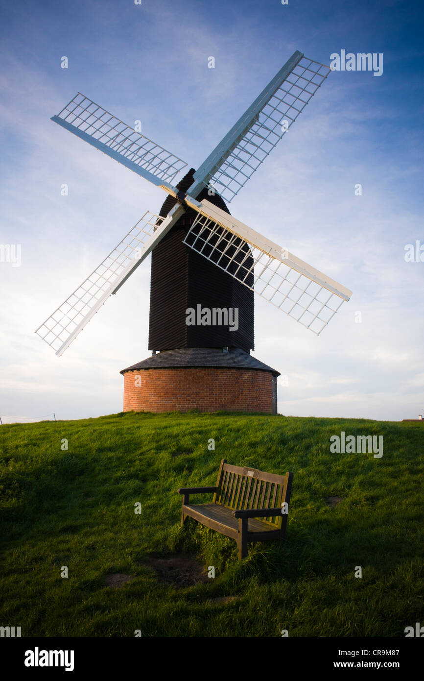 A view of Brill windmill, Buckinghamshire. - Stock Image