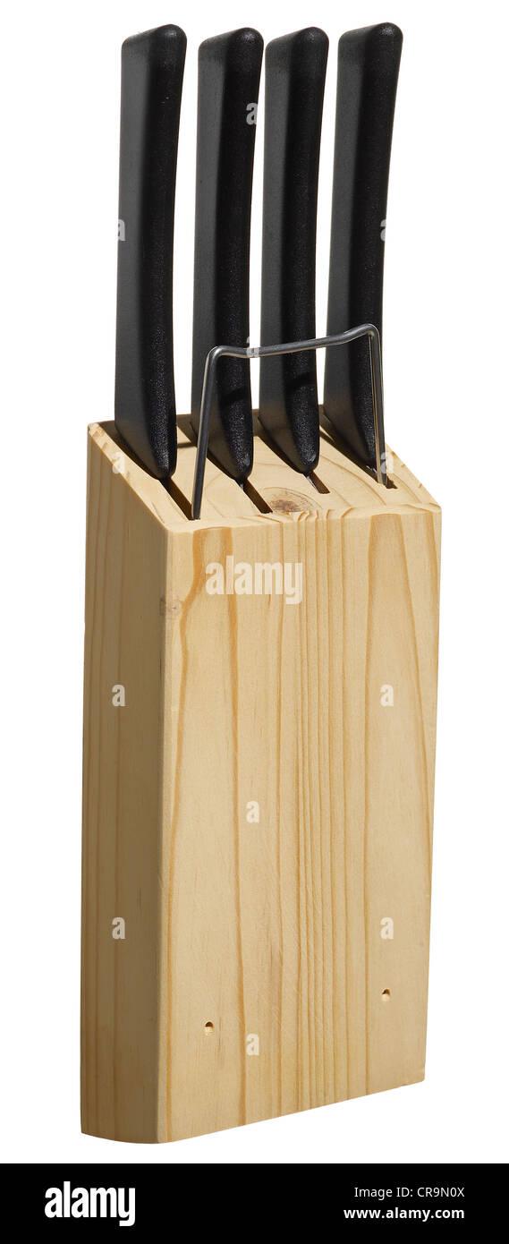 Knives in Block - Stock Image