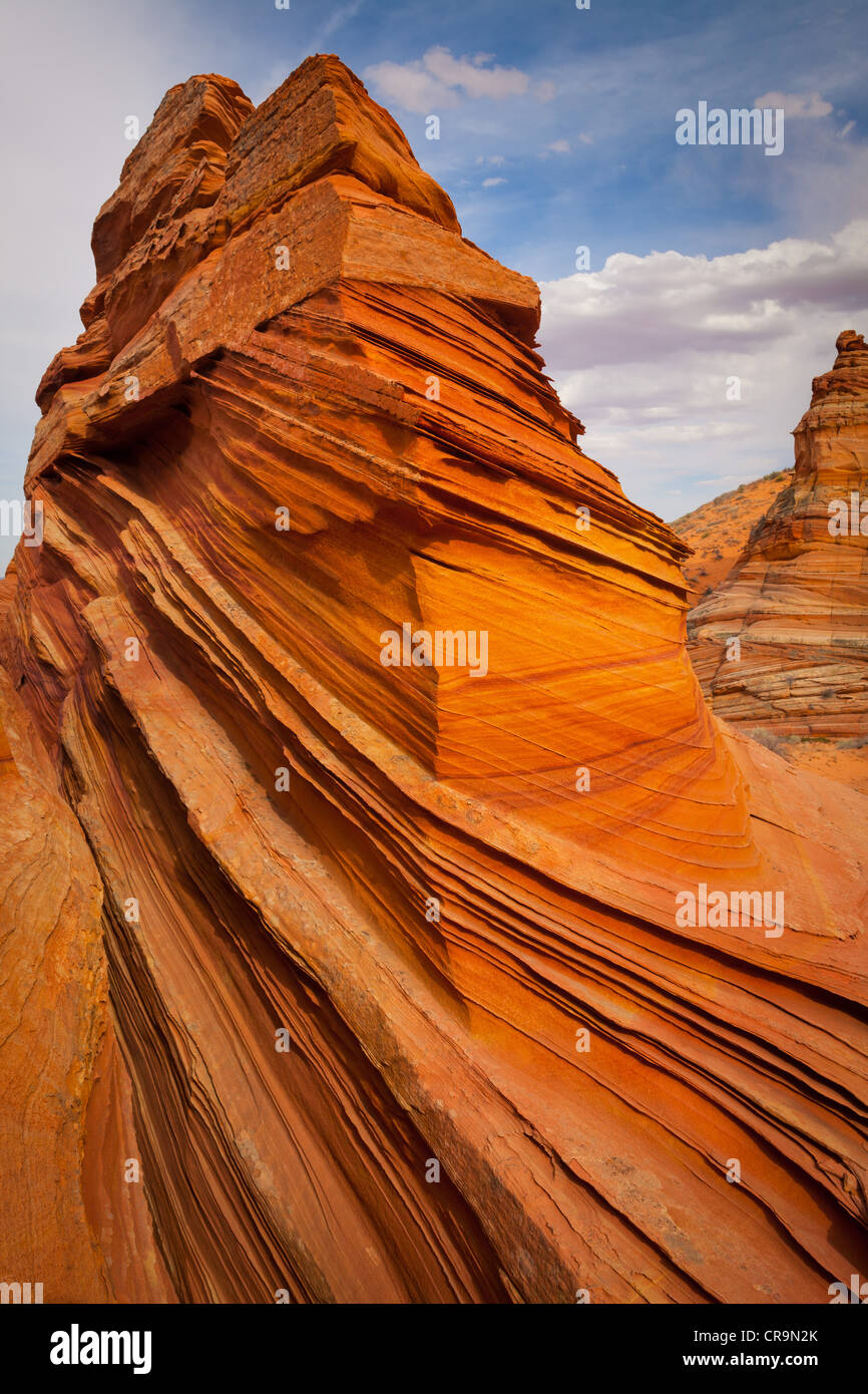 Rock formations in the South Coyote Buttes unit of the Vermillion Cliffs National Monument - Stock Image