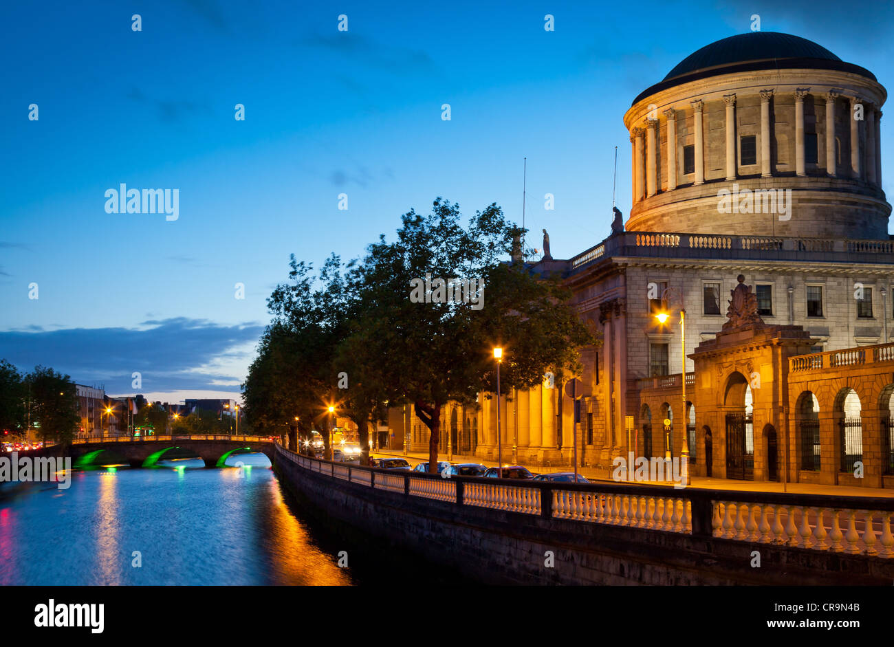 The Four Courts in Dublin is the Republic of Ireland's main courts building - Stock Image