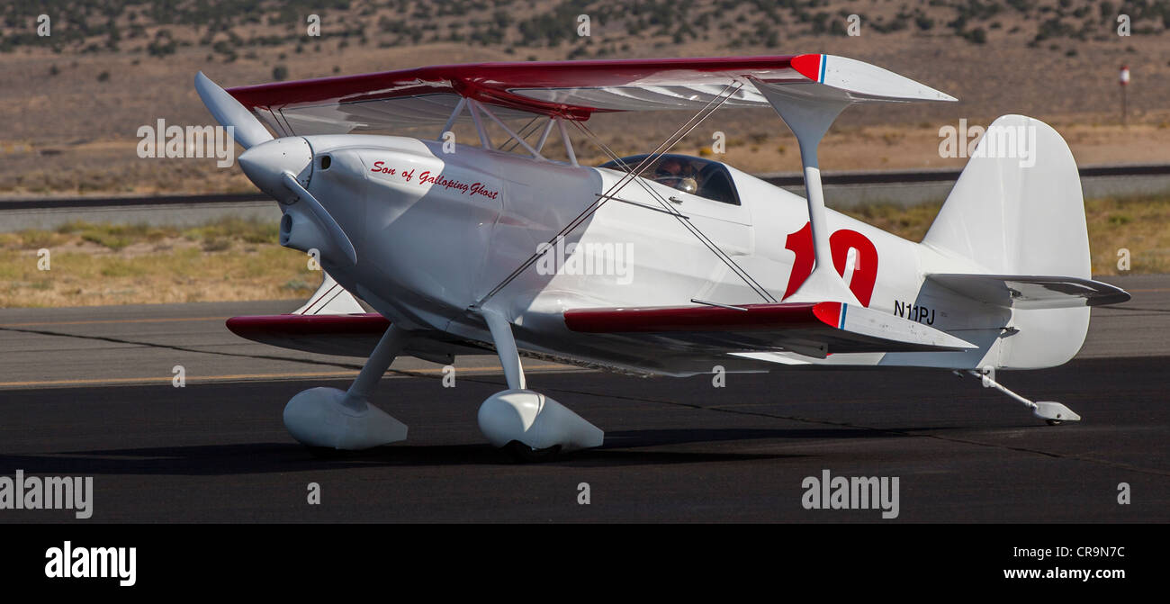 A biplane at the 2011 National Championship Air Races in Reno Nevada - Stock Image