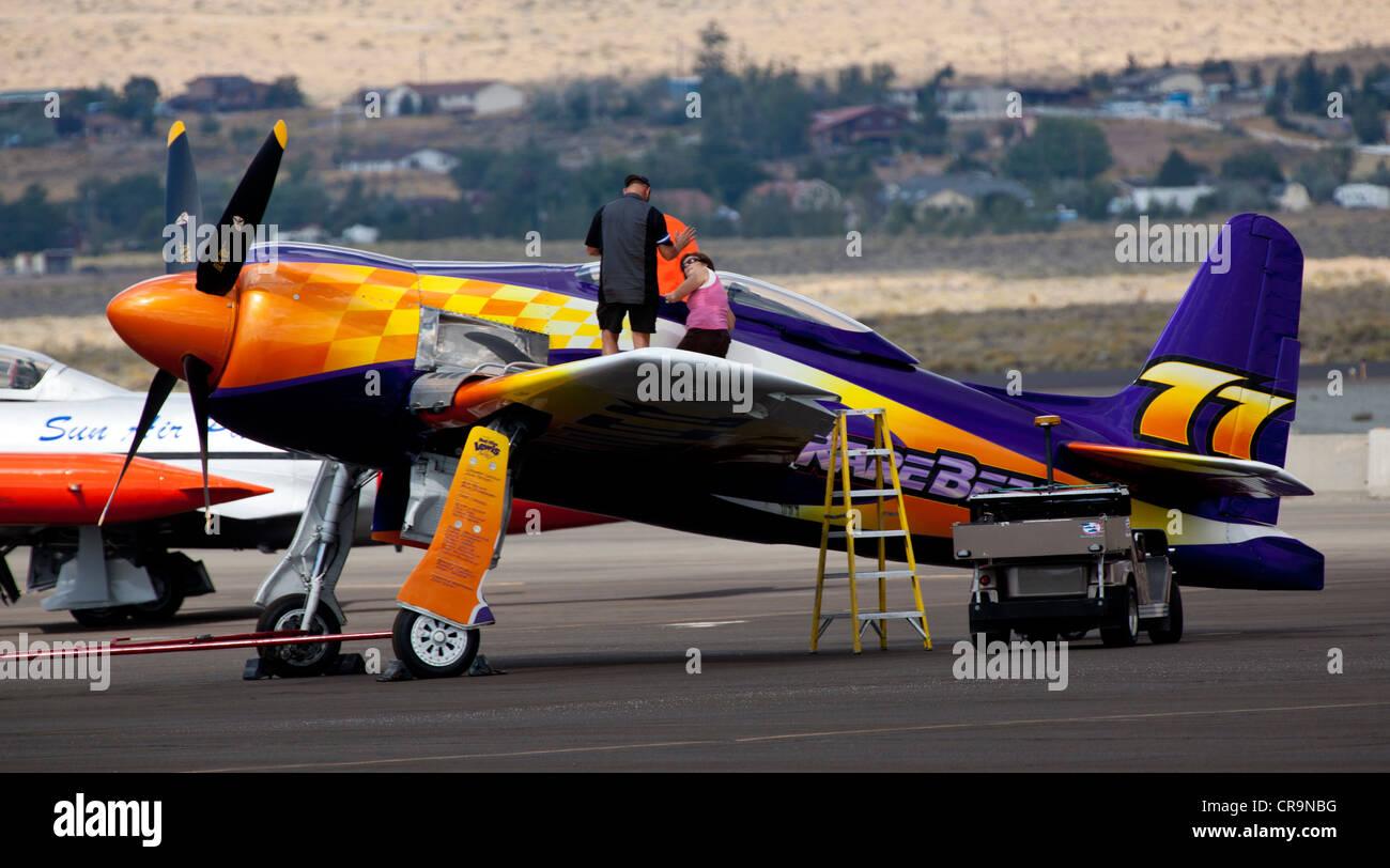 RareBear at the 2011 National Championship Air Races in Reno Nevada - Stock Image