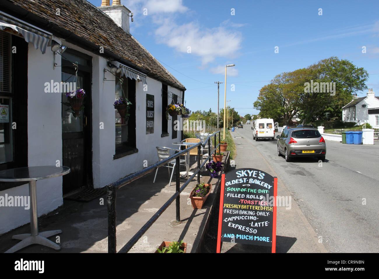 Skye's oldest bakery Dunvegan Scotland  June 2012 - Stock Image