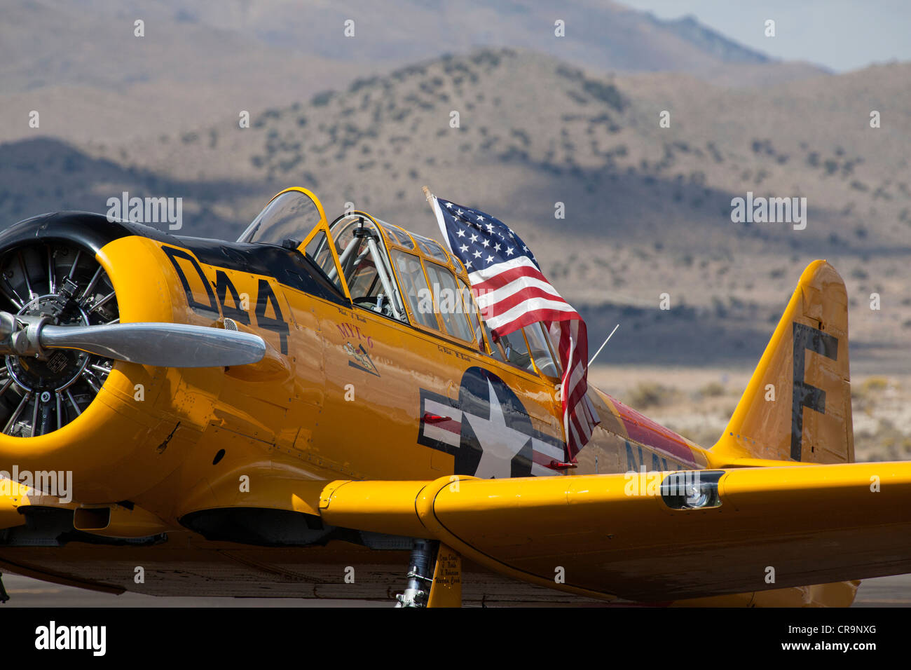 T-6 Texan at the 2011 National Championship Air Races in Reno Nevada - Stock Image