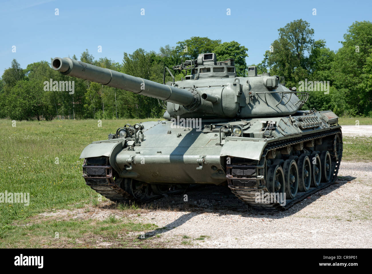 A French AMX-30 Heavy tank - Stock Image