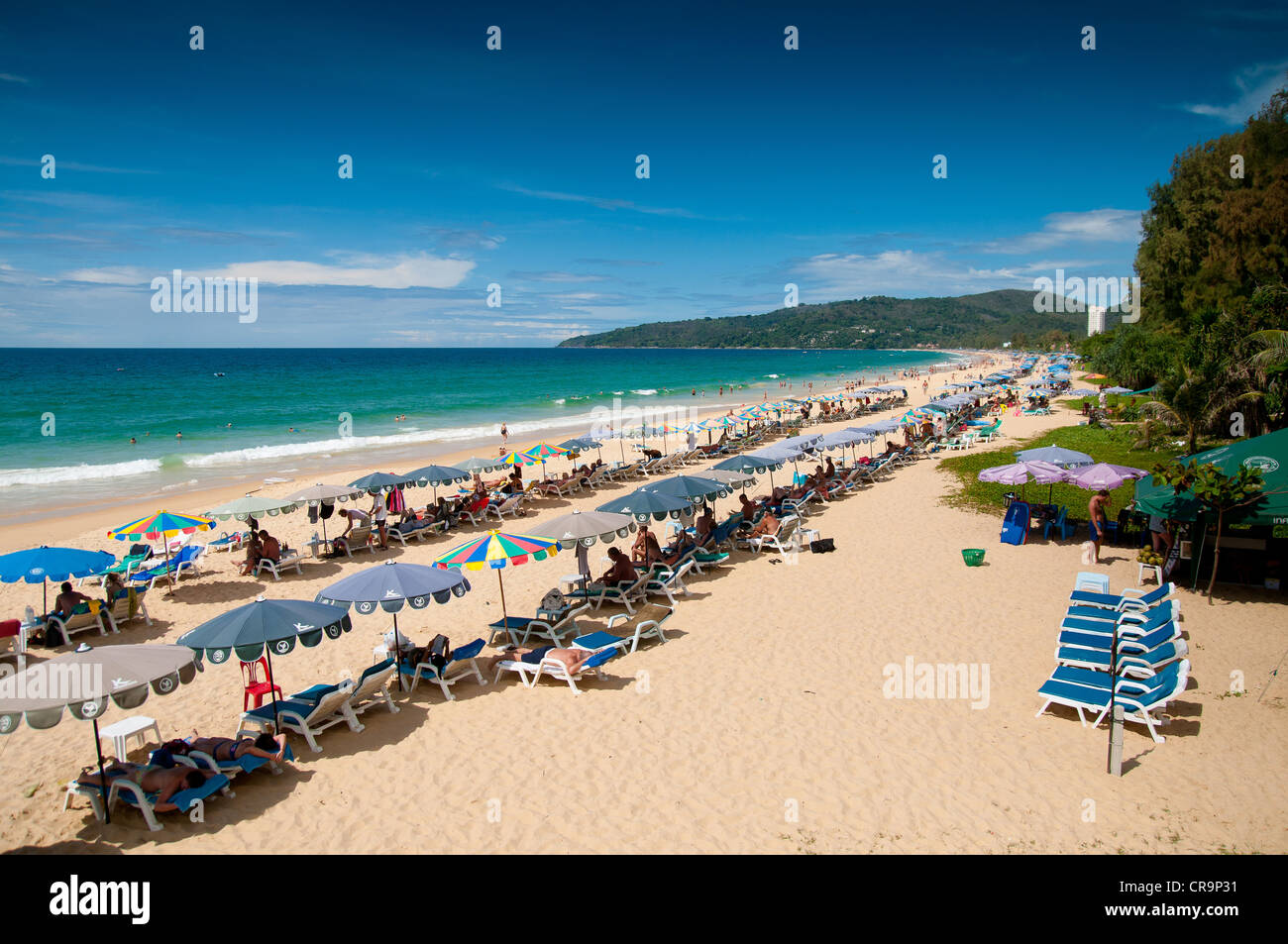 Karon Beach Panorama, Phuket, Thailand - Stock Image