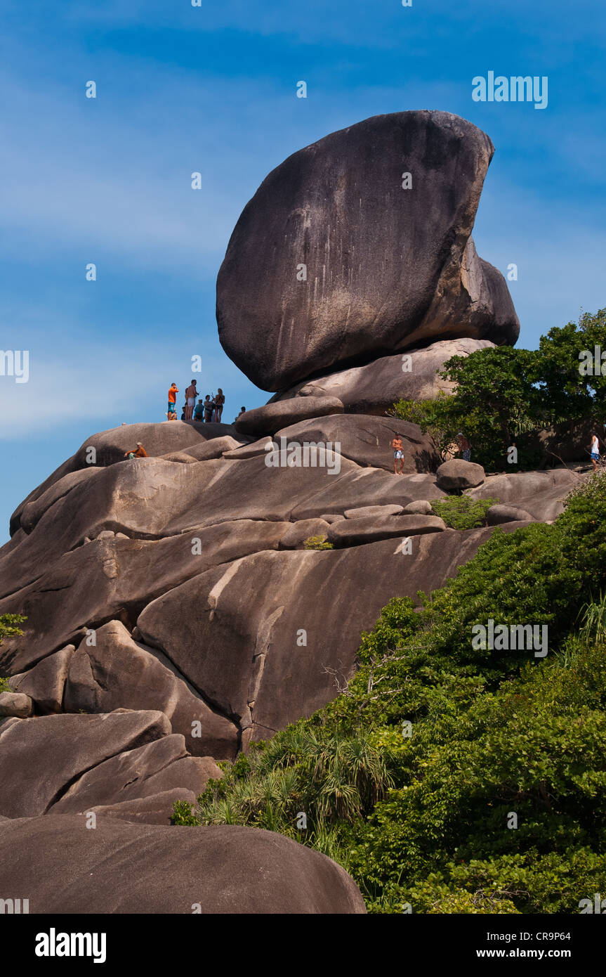 Sail rock on Similan islands in Thailand - Stock Image