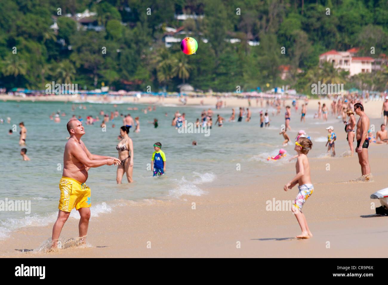 Karon beach games in Phuket, Thailand - Stock Image