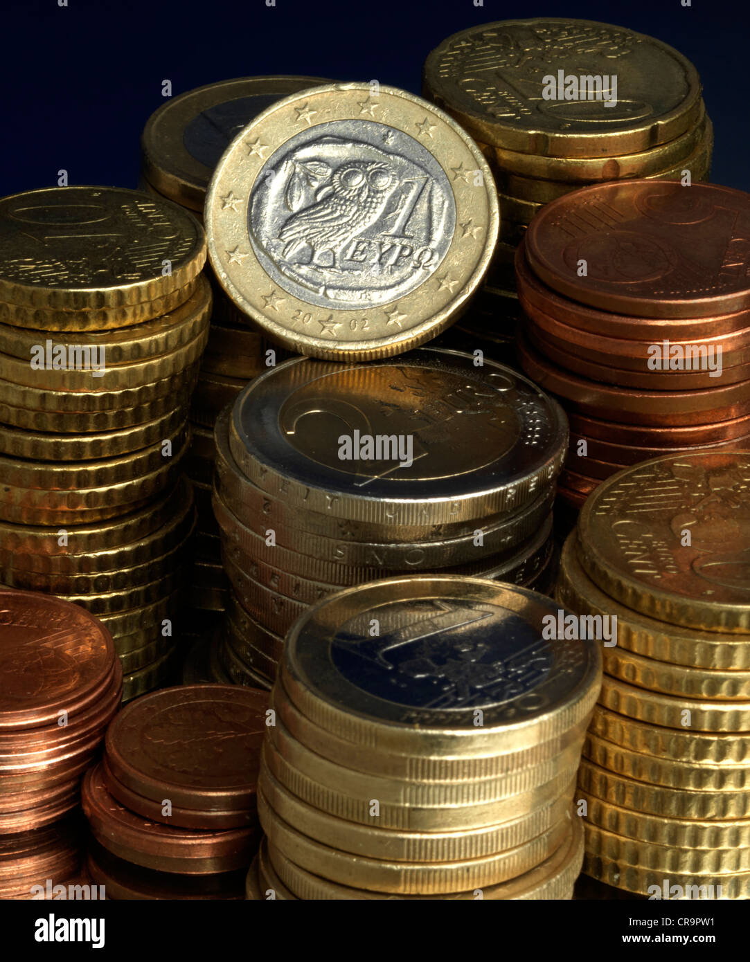 currency devaluation Greek Euro Griechenland Euro from Greek griechischer Euro Euroabwertung currency devaluation - Stock Image