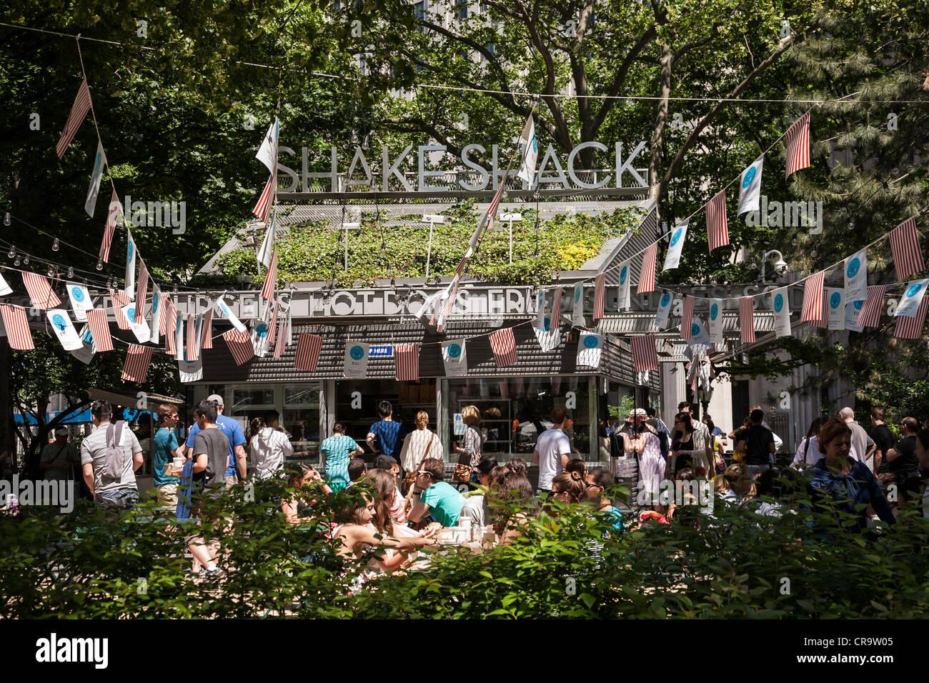 The Shake Shack, Madison Square Park, NYC Stock Photo