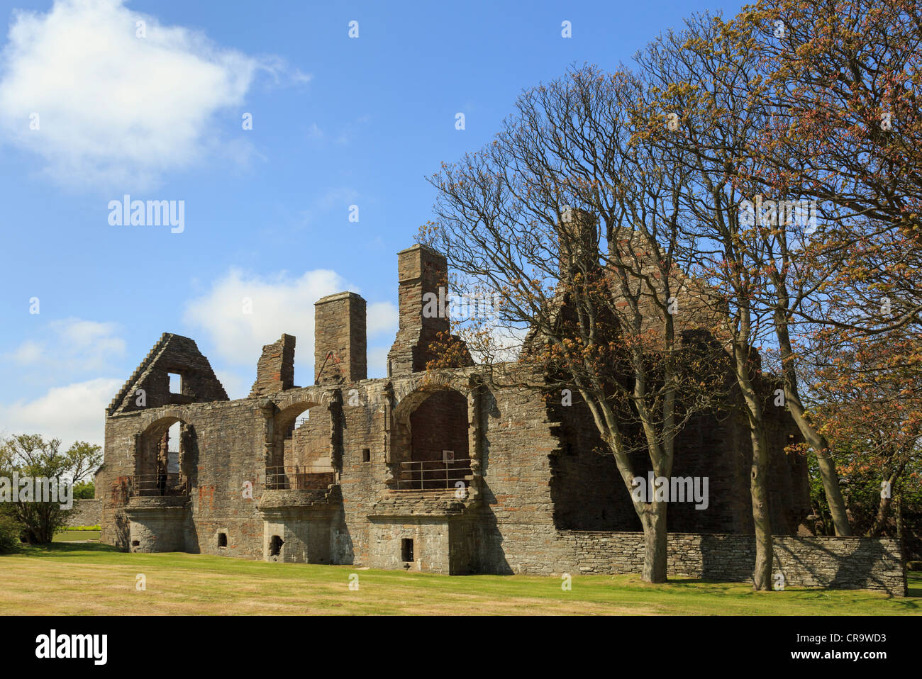 Remains of the 16th century Earl's Palace ruins of Renaissance building. Palace Road, Kirkwall, Orkney Islands, - Stock Image