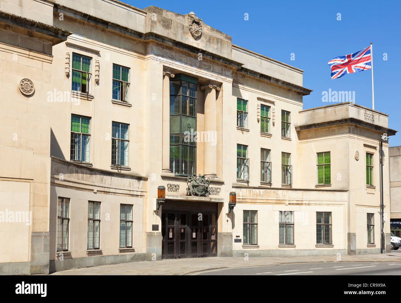 Oxford crown court Oxfordshire England GB UK EU Europe - Stock Image