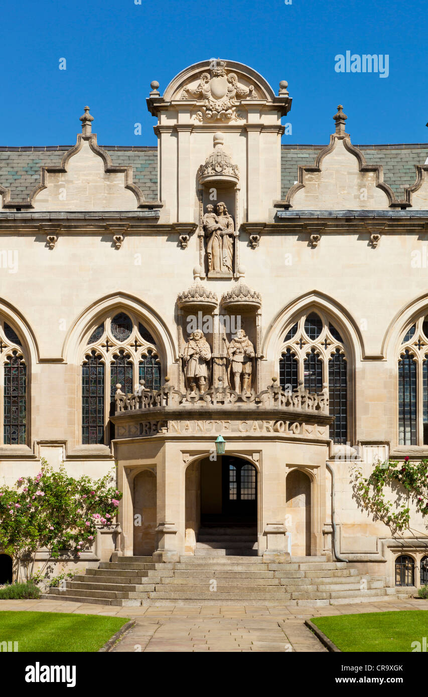 Front Quad Oriel College Oxford University Oxfordshire England UK GB EU Europe - Stock Image