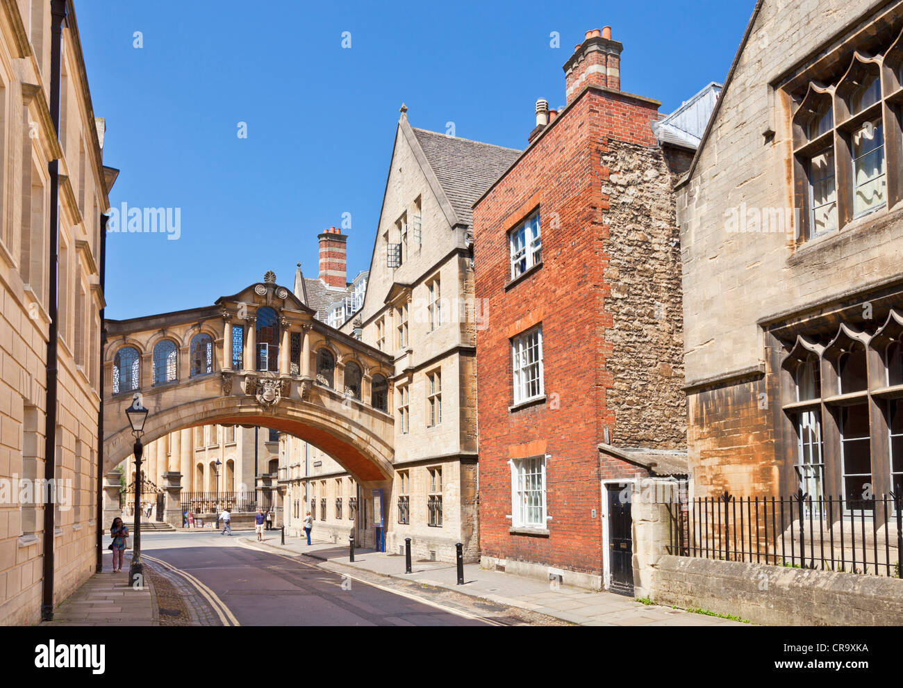 The Bridge of Sighs or the Hertford Bridge New College Lane Oxford Oxfordshire England UK GB EU Europe - Stock Image