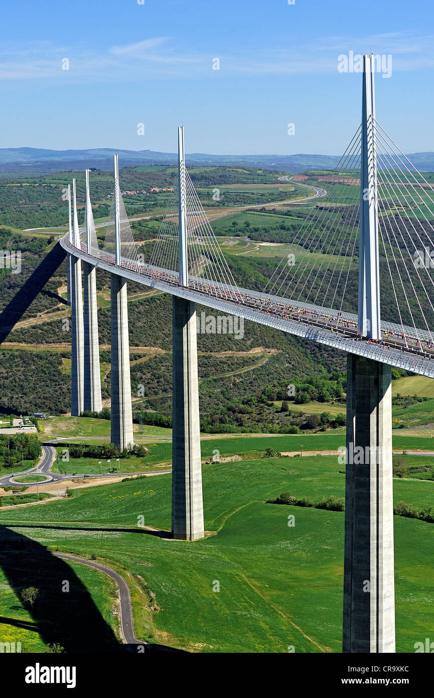 Bridge viaduct of Millau, France. - Stock Image