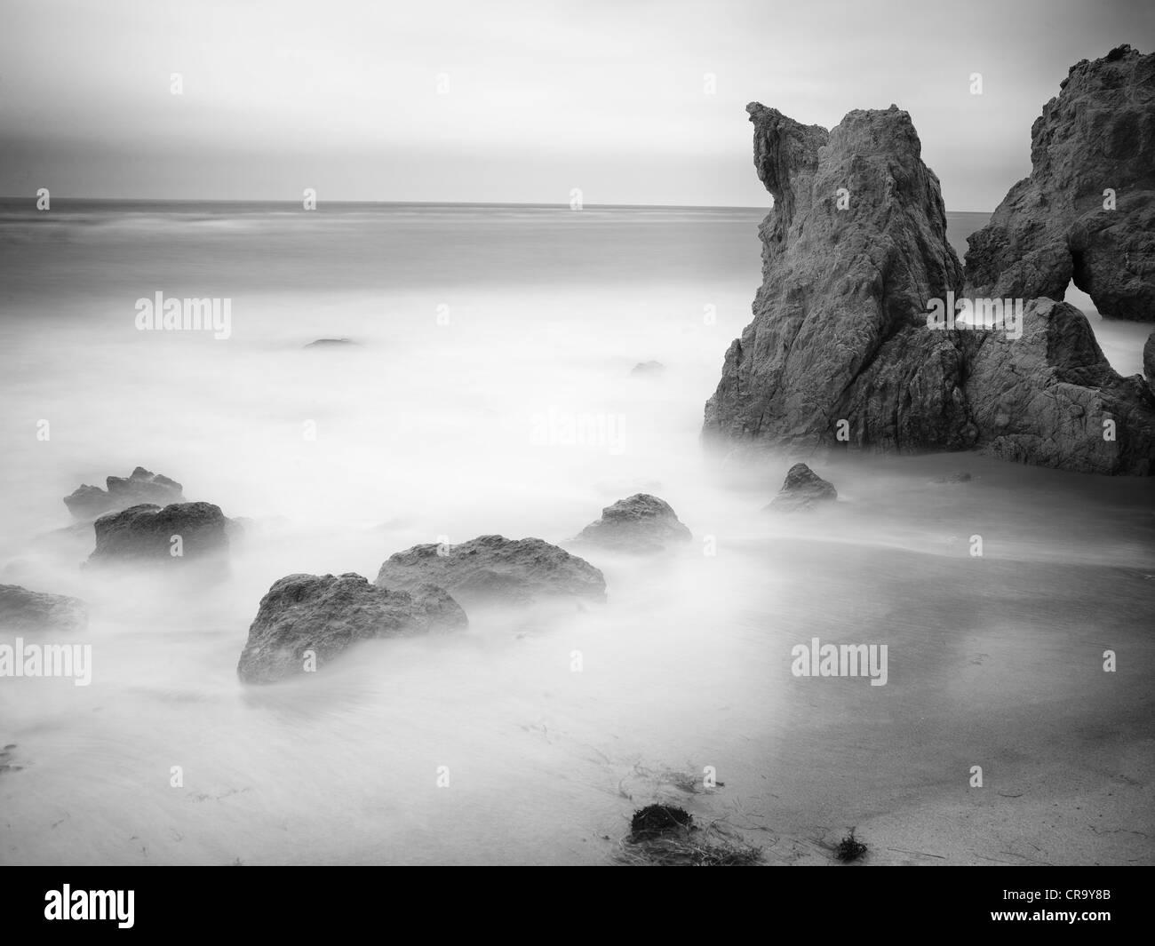 El Matador Beach Malibu California Usa Long Exposure Artistic Stock Photo Alamy