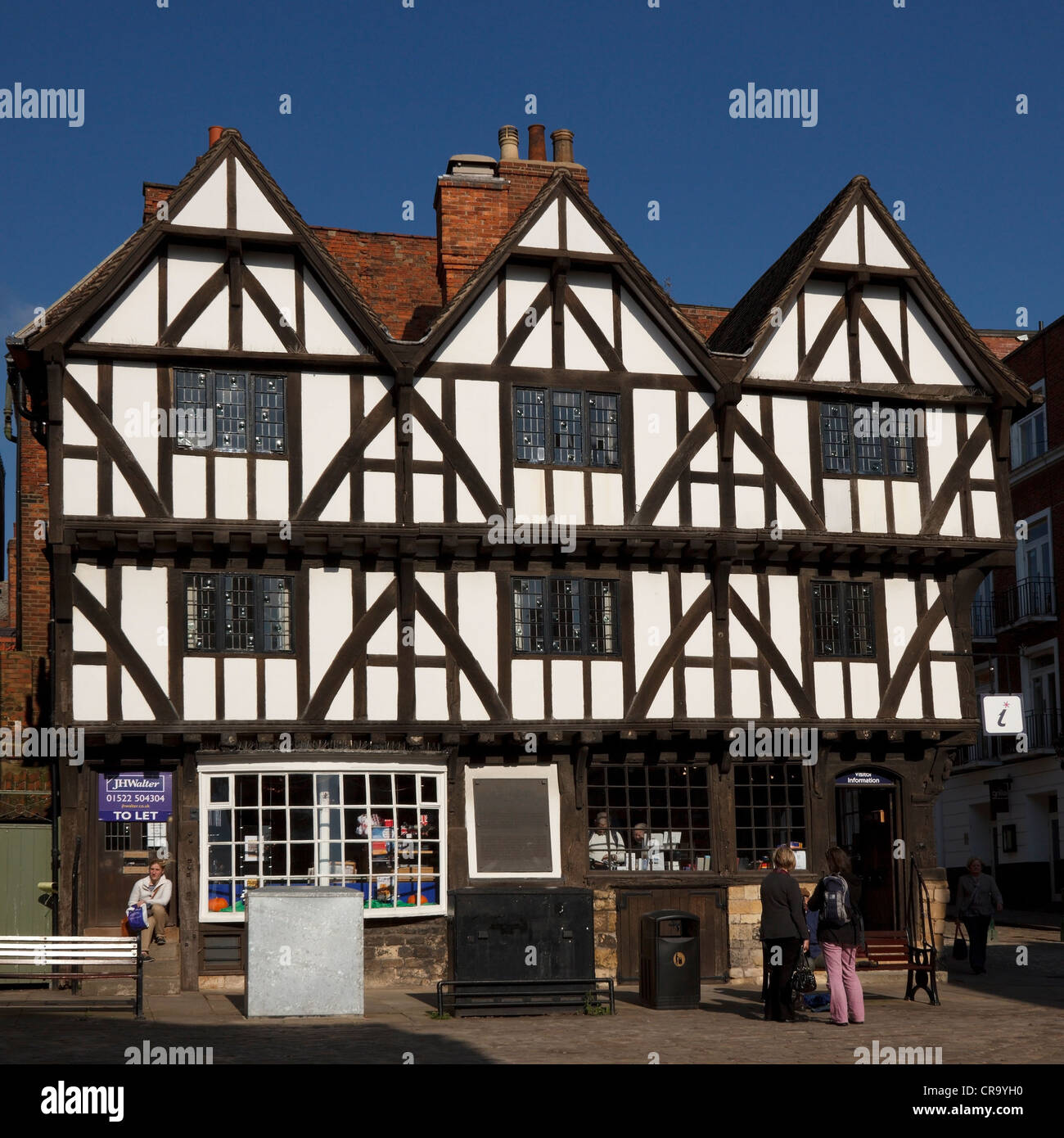 Tourist Information Office, Leigh-Pemberton House, Lincoln, Lincolnshire, England, UK - Stock Image