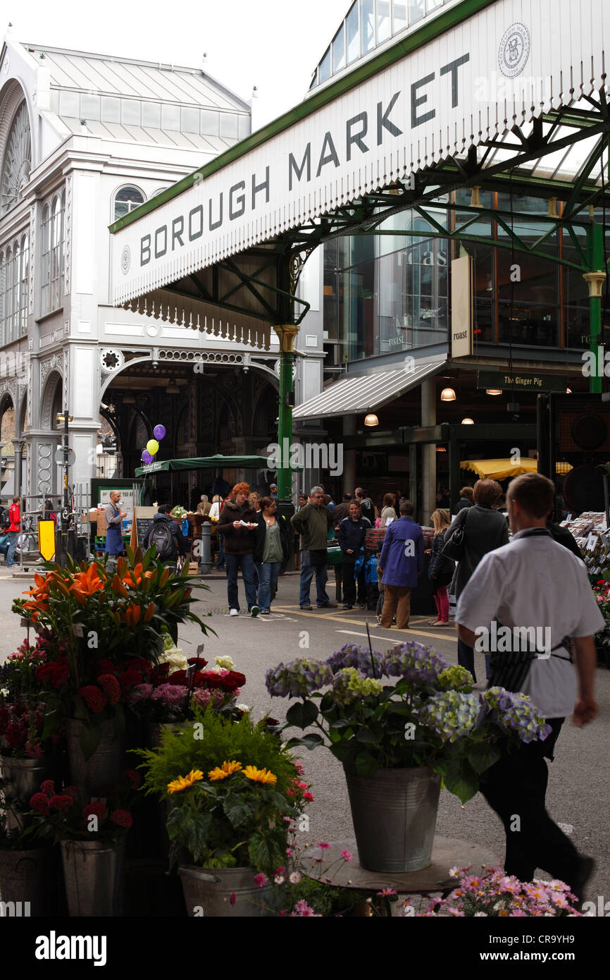 Borough Market, Southwark, London, England, U.K. Stock Photo