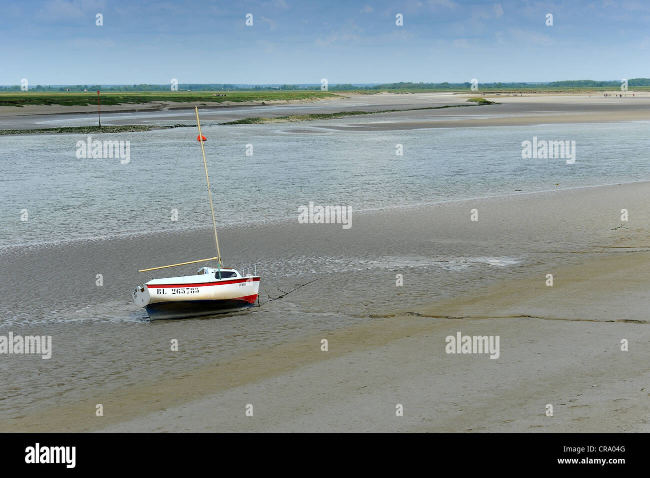 Baie de Somme River Somme St Valery Sur Somme Picardy France - Stock Image