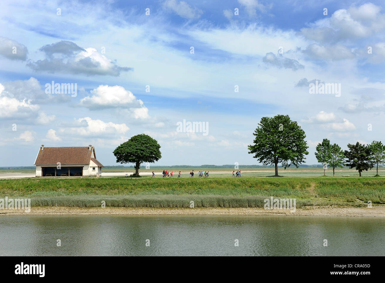 River Somme St Valery Sur Somme Picardy France - Stock Image