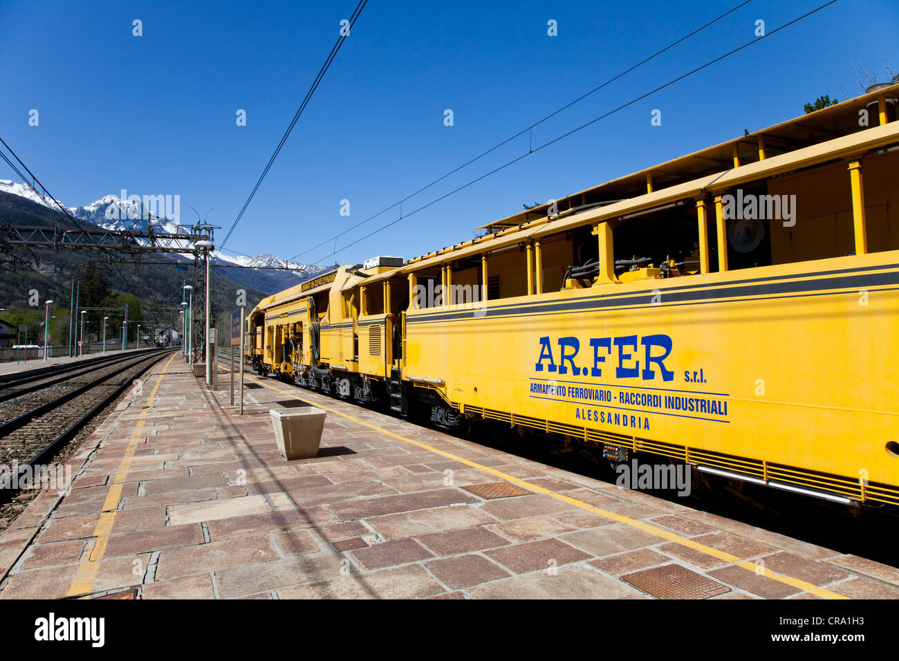 Travel By Train Italy Rail travel in italy stock photos rail travel in italy stock rail maintenance train in oulx station piemonte italy stock image sisterspd