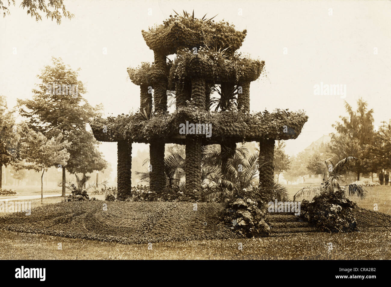 Fantastic Three Level Floral Gazebo - Stock Image