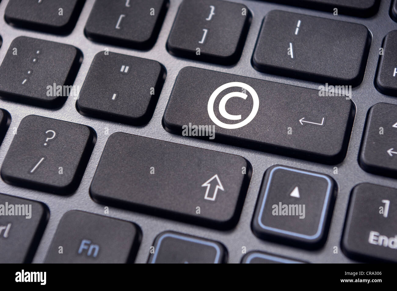 A Copyright Symbol On Keyboard To Illustrate The Concepts Stock